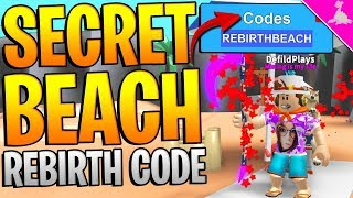 SECRET BEACH REBIRTH CODE AND BIG GIVEAWAY IN ROBLOX MINING SIMULATOR!