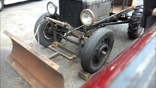 Ford Model T Doodlebug Tractor plow setup 1