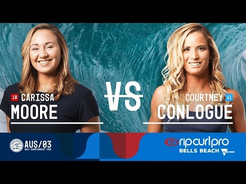 Carissa Moore vs. Courtney Conlogue - Quarterfinals, Heat 1 - Rip Curl Pro Bells Beach 2017 (W)