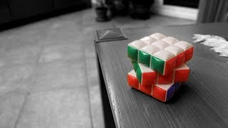 rubik s cube black white speed painting