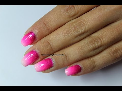 Video Tutorial 129 Nail Art Ombr 232 Sfumata Fucsia Youtube