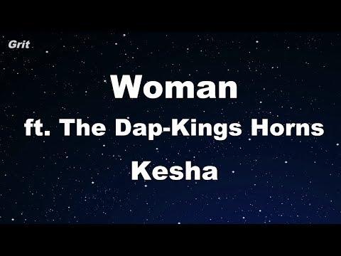 Woman ft. The Dap-Kings Horns - Kesha Karaoke 【No Guide Melody】 Instrumental