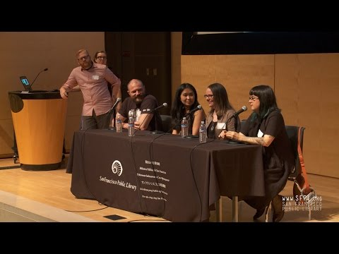 Thi Bui, Justin Hall, Raina Telgemeier, Mariko Tamaki at BayNet 2017