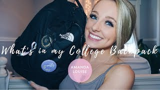 What's in my (College) Backpack  ll  Back to School with Amanda Louise