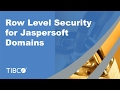 Jaspersoft Row Level Domain Data Security Tutorial