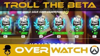 Overwatch - Troll the Beta #1 - Mercy Challenge [Gameplay][deutsch][german]