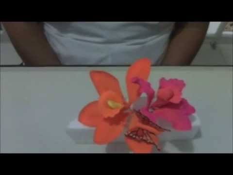 Como hacer orquideas de az car youtube - Como se construye una chimenea ...