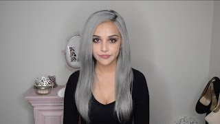 Dying hair silver grey
