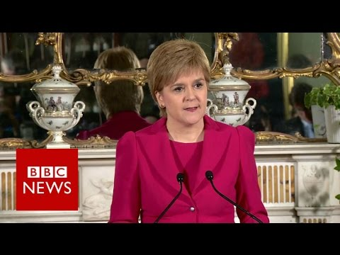 Scottish independence:  Nicola Sturgeon to seek second referendum - BBC News