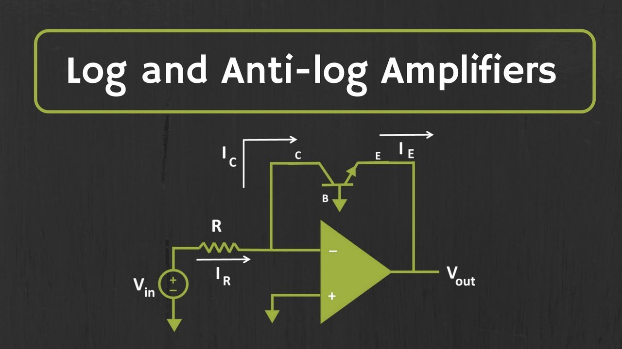Log and Antilog Amplifiers Explained   Applications of Log and Antilog  Amplifiers
