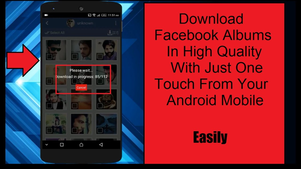 Phone Download Facebook On Android Phone how to download facebook albums from your android mobile phone phone