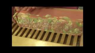 Cutting Indian Rose Pure Silk Irish Handmade Soap www.iamhandmade.com