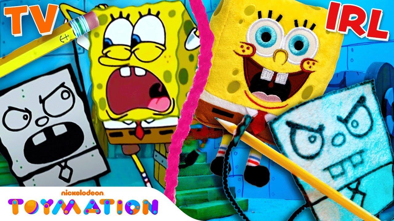 Download DoodleBob Drawing Comes Alive w/ SpongeBob and Patrick Puppets! | Frankendoodle | Toymation