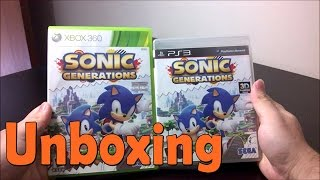 Sonic Generations - Xbox 360\PS3- UNBOXING