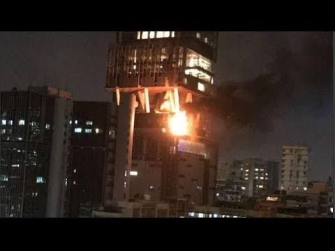 Fire breaks out at terrace of Mukesh Ambani's Antilia building in Mumbai