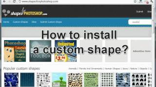 How to Install a Custom Shape in Photoshop Tutorial