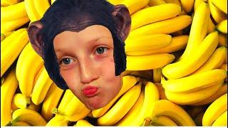 Monkey Banana Dance with Tawaki kids| Baby Monkey Animals | Dance Along |