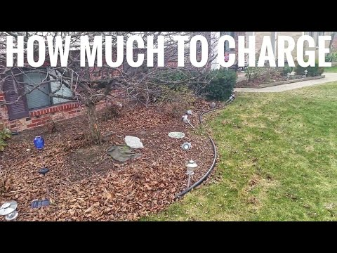 how much should i charge for small landscaping jobs youtube. Black Bedroom Furniture Sets. Home Design Ideas