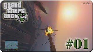 GTA 5 - Das erste mal Flugzeug fliegen (Lets Play #01)