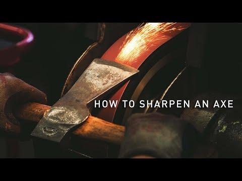 How To Sharpen An Axe (For Axe Throwing)