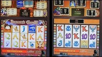 Slots Challenge PHARAOH'S GOLD II vs PHARAOH'S GOLD III - Won the Bonus Free Games.