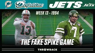 """The Fake Spike Game"" (Dolphins vs. Jets 1994, Week 13)"
