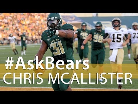 Baylor Football: #AskBears with Chris McAllister