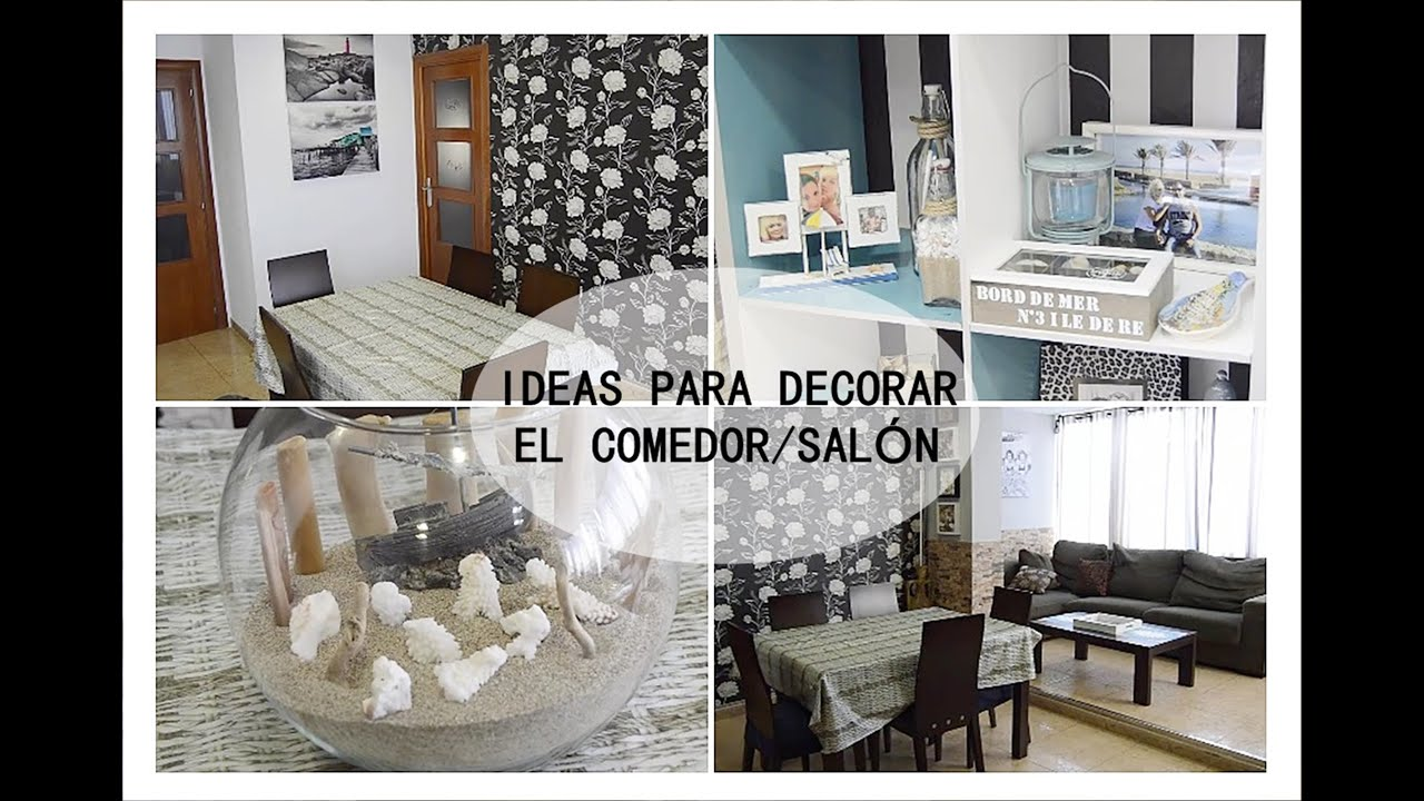 Ideas para decorar comedor sal n youtube for Decorar pared salon comedor