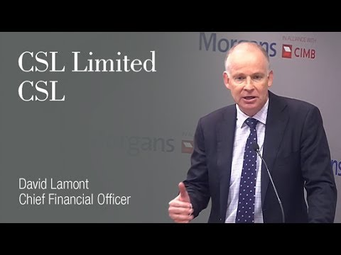 CSL Limited: David Lamont, Chief Financial Officer