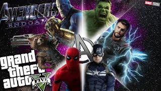 GTA 5 Mods - The NEW Avengers Endgame Movie!!! All of the super her...