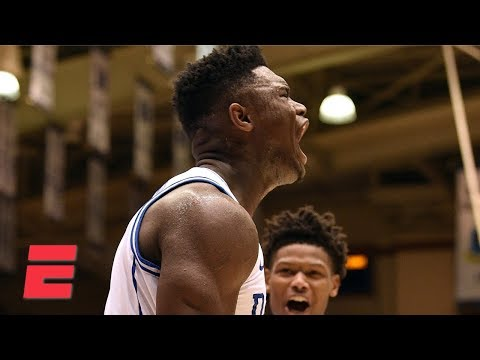 Zion Williamson's dunks, 29 points lead Duke to 30-point win | College Basketball Highlights