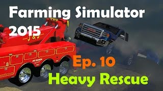 FS15: Heavy Rescue Ep.10 Truck In The Water At Boat Ramp