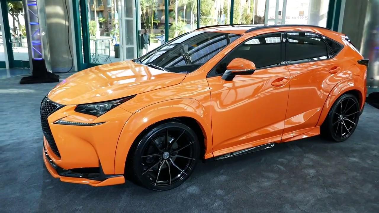 Custom Lexus Nx 200t Turbo Hybrid Bright Orange Paint Job 2017 La Auto Show Los Angeles Ca