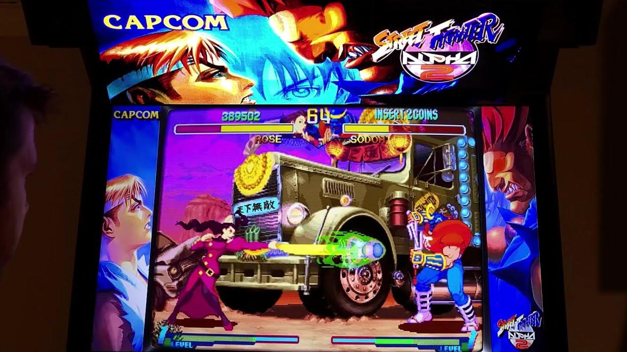 Street Fighter Alpha 2 Arcade Cabinet Mame Playthrough W