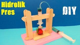 Evde Hidrolik Pres Nasıl Yapılır - Çok Basit - How to Make Hydraulic Press at Home