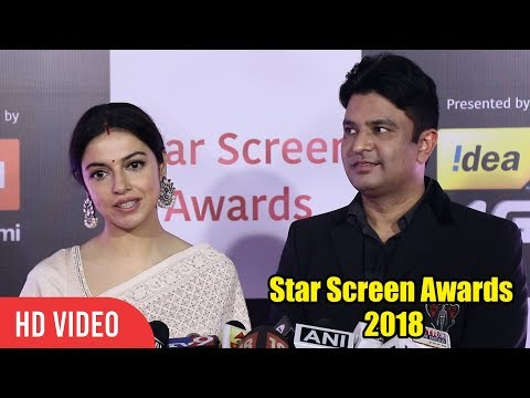 Tseries Owner Bhushan Kumar with wife Divya Khosla Kumar at Star Screen Awards 2018