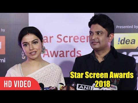 Tseries Owner Bhushan Kumar with wife Divya Khosla Kumar at Star Screen Awards 2018
