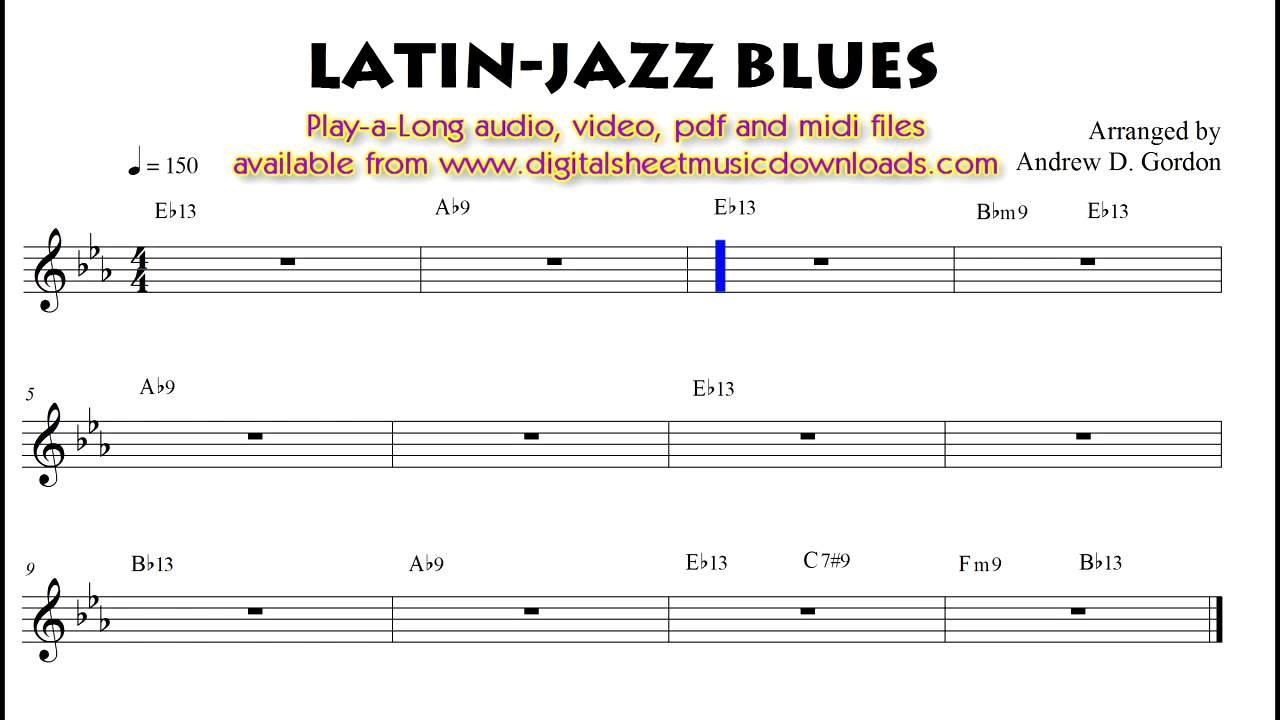 Blues 12 bar progression Play-A-Longs - DIGITAL SHEET MUSIC