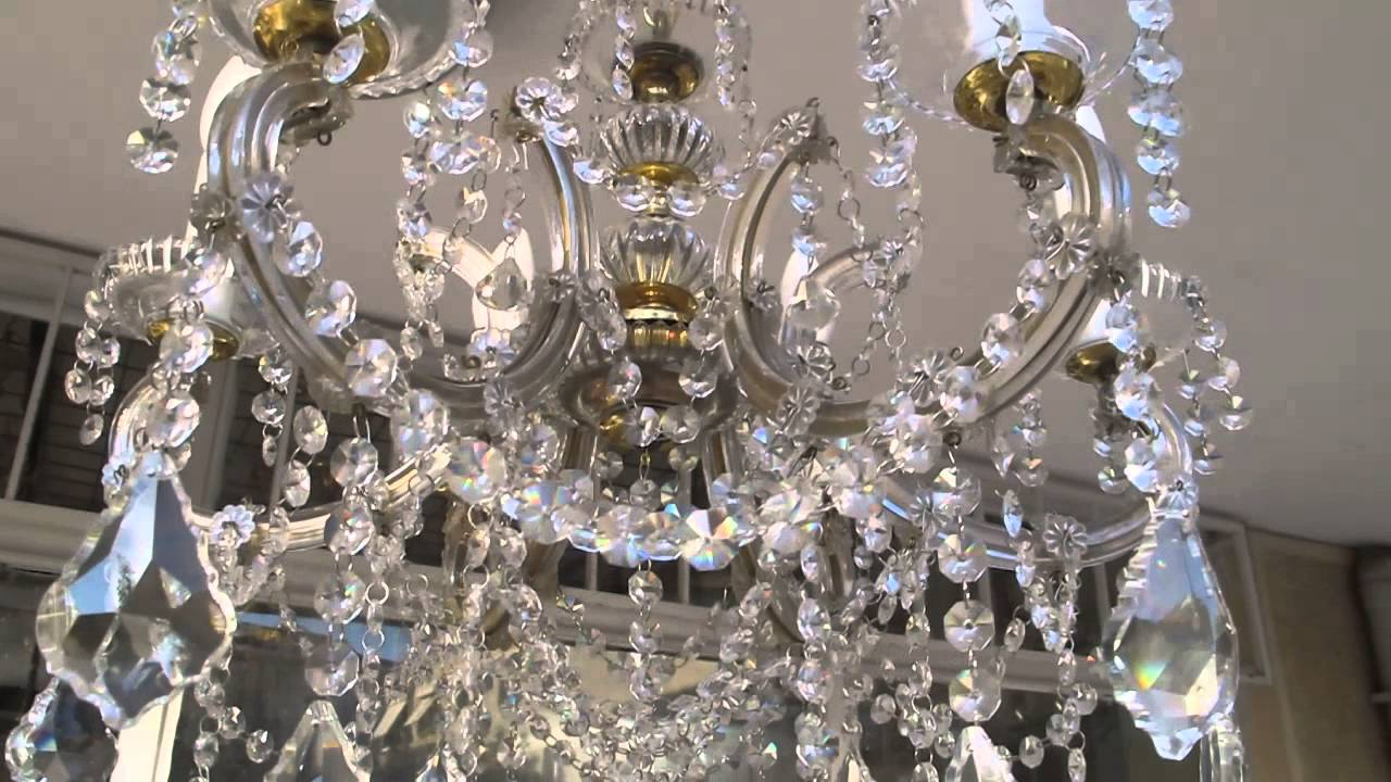 Maria theresa swarovski crystal chandelier youtube maria theresa swarovski crystal chandelier aloadofball Gallery