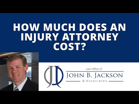 How much does an injury attorney cost?