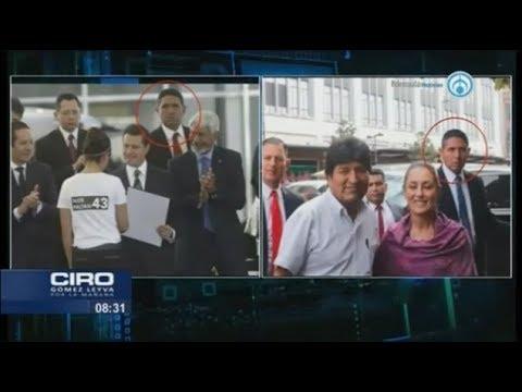 ¿Reviven Estado Mayor Presidencial? Escoltas de Peña Nieto cuidan de Evo Morales