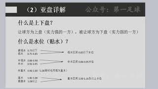 【博彩教学】亚盘详解
