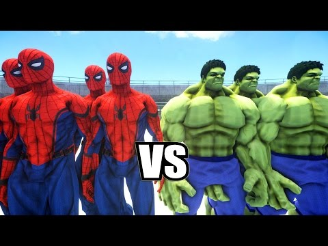 Thumbnail: SPIDERMAN CIVIL WAR SUIT ARMY VS HULK ARMY - EPIC BATTLE ( Grand Theft Auto IV )