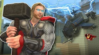 AVENGERS SAVE CITY FROM ZOMBIES & ALIENS? - Garry's Mod Gameplay - Thor & Iron Man Suit