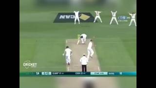 What a terrifying Yorker by Mitchell Starc to Dean Elgar.....AUS Vs. SA