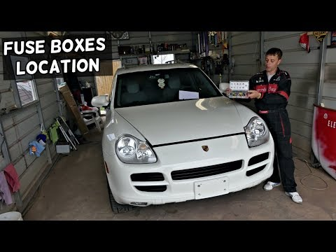 PORSCHE CAYENNE FUSE BOX LOCATION 9PA 2003 2004 2005 2006 2007 2008 2009  2010 - YouTubeYouTube