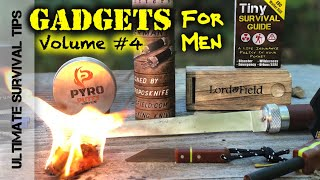 NEW! 7+ Survival / EDC Gadgets for Men + DANGEROUS KNIFE! BattlBox Review - Gizmos Volume #4