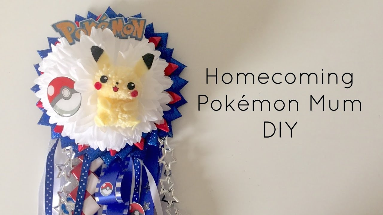 Diy Pokemon Pikachu Homecoming Mum