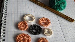 Вязание ирландских кружев для начинающих. 1. Основные элементы -  кружочки.  1 часть