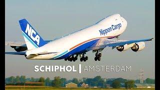 Planespotting Amsterdam Schiphol Airport HEAVY (AMS) - 4K